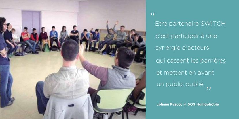 FACE Aude SWITCH, Le pas de côté SOS Homophobie