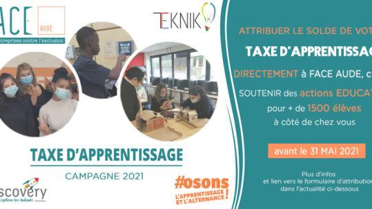 FACE Aude Taxe d'Apprentissage