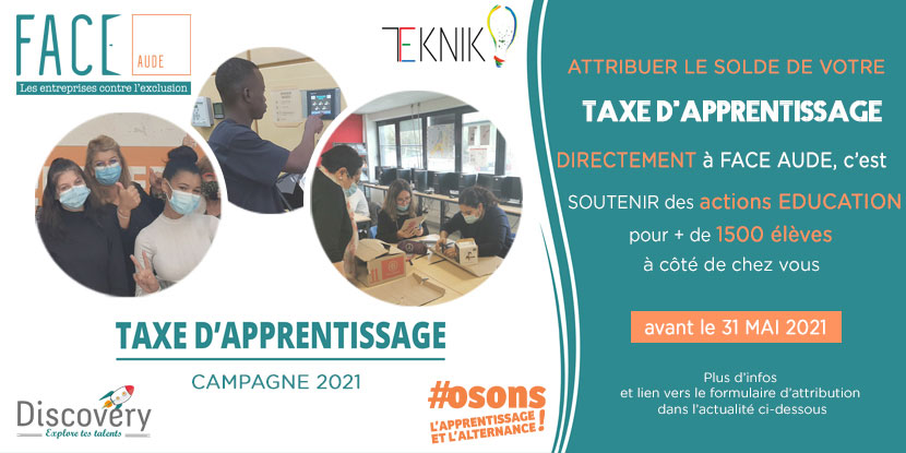 FACE Aude Taxe d'Apprentissage